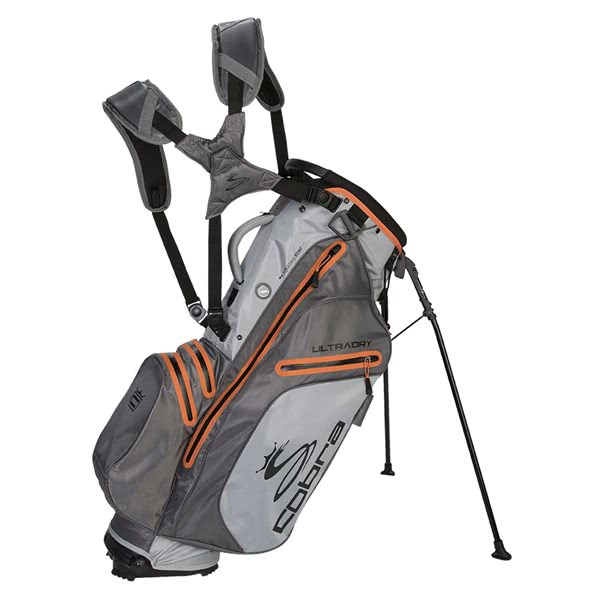 Cobra Ultradry Golf Stand Bag - Grey/Orange
