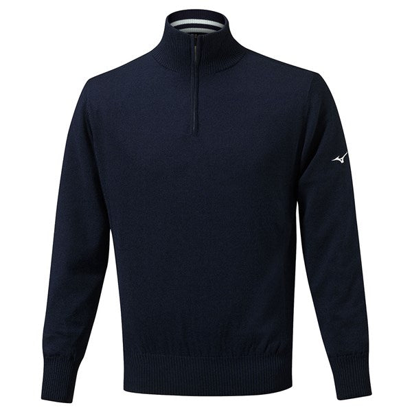 Mizuno Mens Windproof Lined Jumper - Navy