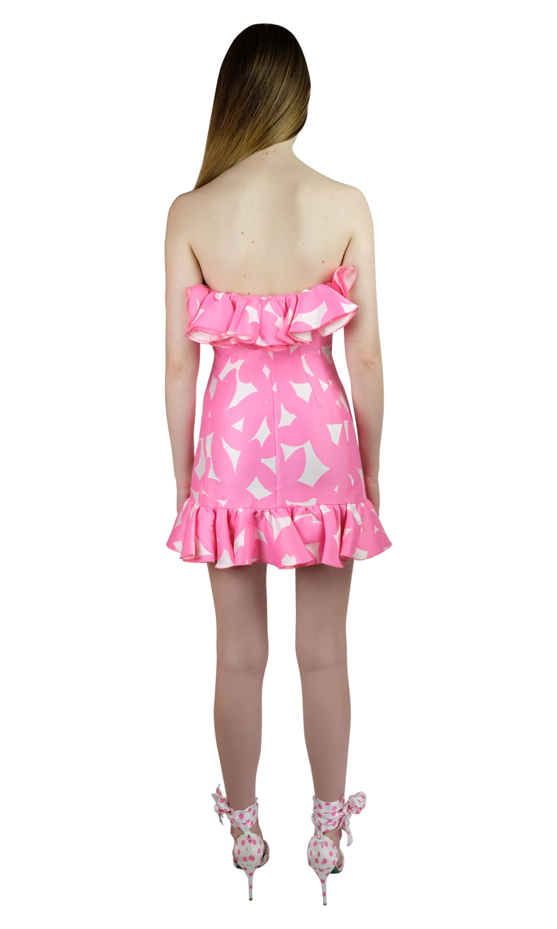 Pink Flowers Mini Dress