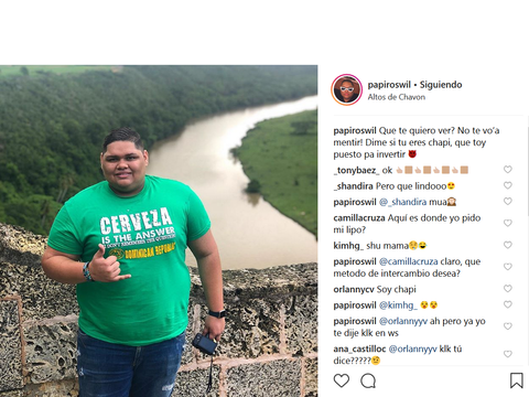 Roswil Valdez @papiroswil Instagram post in Altos de Chavón