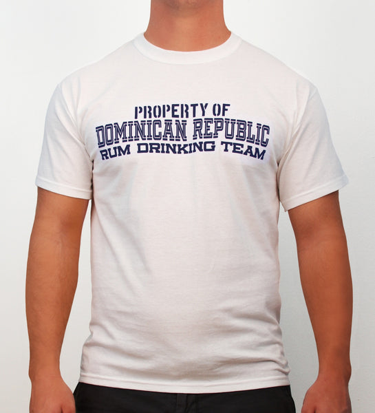 Property of Dominican Republic Rum Drinking Team, Dominican Republic, white - Hot Penguin, Ltd.