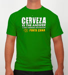 Hot Penguin, Ltd. Cerveza t-shirt for men in Irish green, Punta Cana collection - Hot Penguin, Ltd.