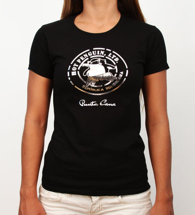 Hot Penguin Ltd. Silver Hot Penguin t-shirt for women, Punta Cana Collection - Hot Penguin, Ltd.