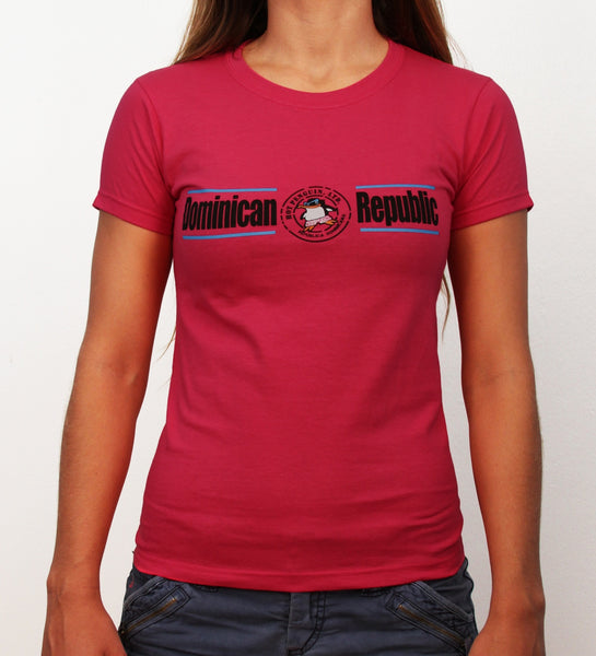 Hot Penguin, Ltd. with Dominican Republic t-shirt for women in fuchsia, Dominican Republic collection - Hot Penguin, Ltd.