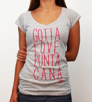 Hot Penguin, Ltd. Gotta Love Punta Cana t-shirt for women in athletic grey, Punta Cana collection - Hot Penguin, Ltd.