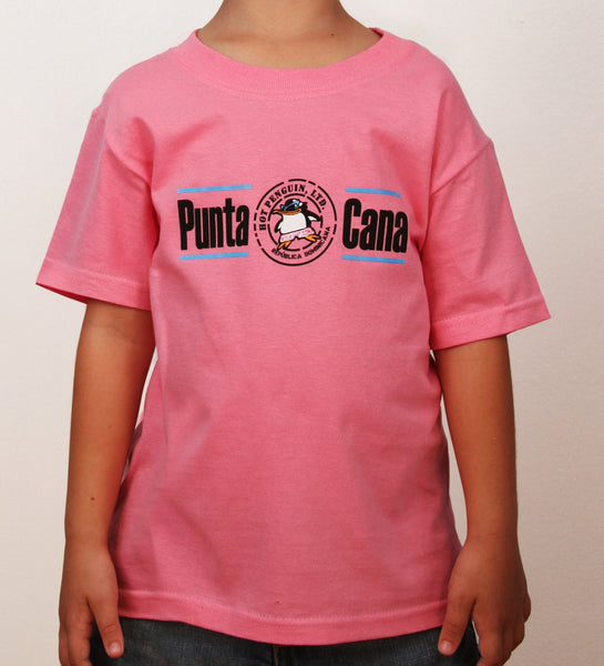 Hot Penguin, Ltd. with Punta Cana t-shirt for kids in pink, Punta Cana Collection - Hot Penguin, Ltd.