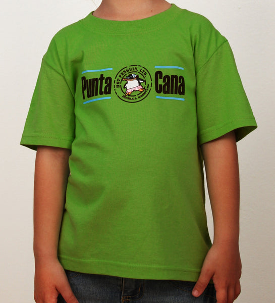 Hot Penguin, Ltd. with Punta Cana t-shirt for kids in indigo blue, Punta Cana collection - Hot Penguin, Ltd.