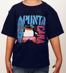 Hot Penguin Ltd. Surf Punta Cana t-shirt for kids in navy blue, Punta Cana Collection - Hot Penguin, Ltd.