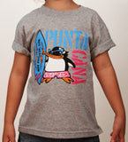 Hot Penguin Ltd. Surf Punta Cana t-shirt for kids in athletic grey, Punta Cana Collection - Hot Penguin, Ltd.