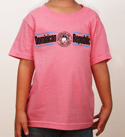 Hot Penguin, Ltd. with Dominican Republic t-shirt for kids in pink, Dominican Republic collection - Hot Penguin, Ltd.