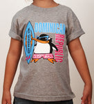 Hot Penguin Ltd. Surf Dominican Republic t-shirt for kids in athletic grey, Dominican Republic Collection - Hot Penguin, Ltd.