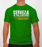 Hot Penguin, Ltd. Cerveza t-shirt for men in Irish green, Dominican Republic collection - Hot Penguin, Ltd.