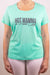 Hot Mamma in Punta Cana t-shirt for women in aqua green