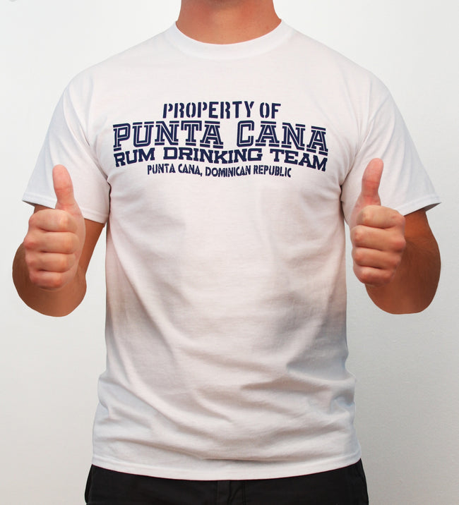 Hot Penguin, Ltd. Property of Punta Cana Rum Drinking Team t-shirt for men, Punta Cana collection - Hot Penguin, Ltd.