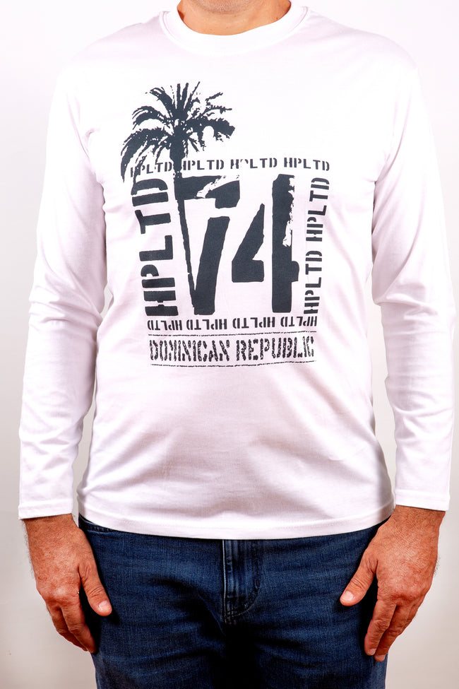 Hot Penguin Ltd. Dominican Republic 74 long sleeve shirt for men, Dominican Republic Collection - Hot Penguin, Ltd.