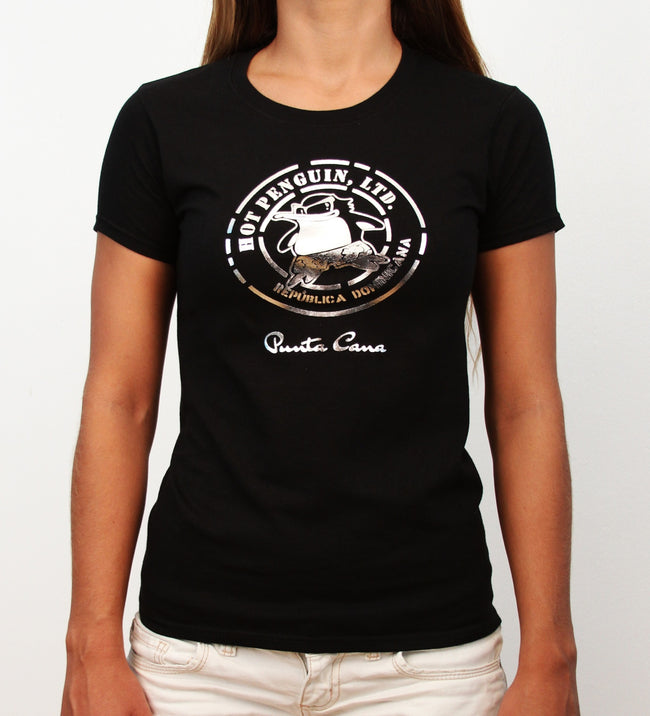 Hot Penguin, Ltd. Gold Hot Penguin t-shirt for women, Punta Cana collection - Hot Penguin, Ltd.