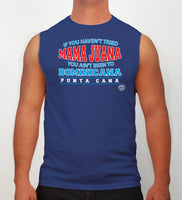 Hot Penguin, Ltd. If You Haven't tried Mamajuana sleeveless shirt for men in blue, Punta Cana collection - Hot Penguin, Ltd.