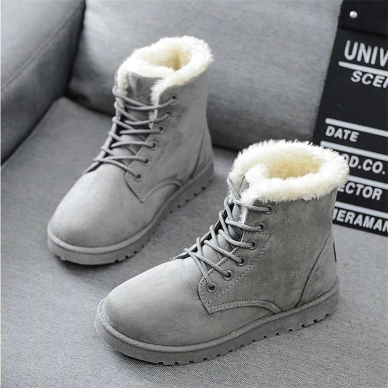 Alissa Suede Fur Boot Alissa Suede Fur Boot - Soo FluffySHOES Soo Fluffy Gray / UK 2 / US 4 / EU 35