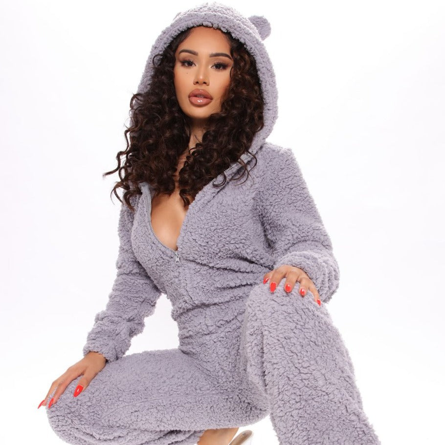 SF Sherpa Fleece Onesie SF Sherpa Fleece Onesie - Soo FluffyCLOTHING & ACCESSORIES Soo Fluffy Gray / UK 8 | S