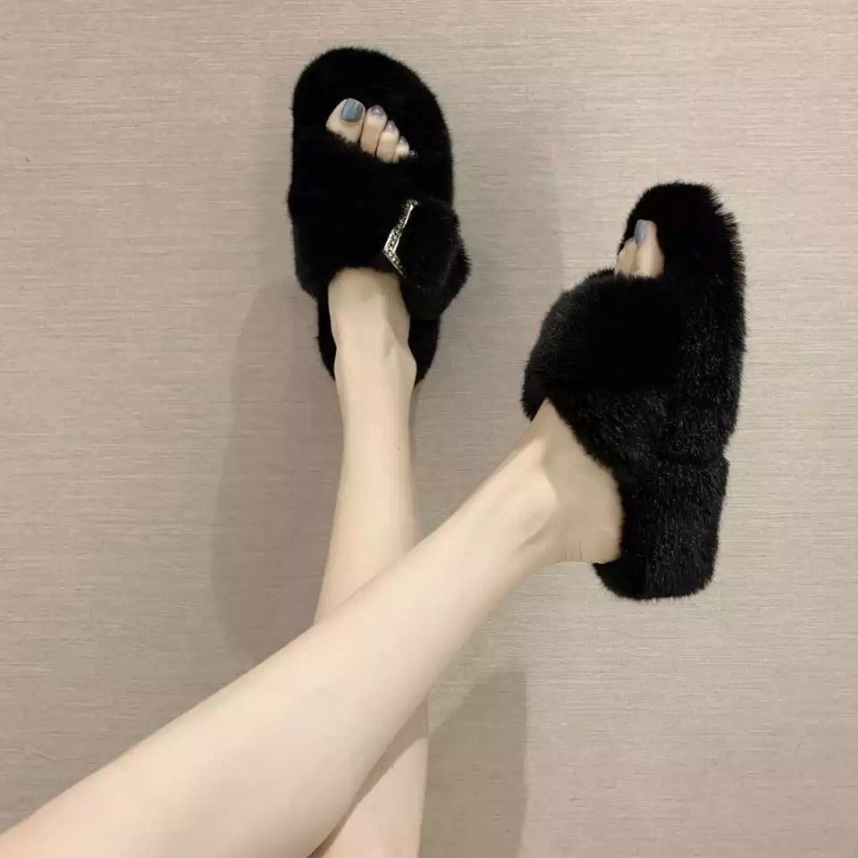 UG Buckle Fur Slides UG Buckle Fur Slides - Soo FluffySHOES Soo Fluffy