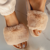 Tracie Fur Sandals Tracie Fur Sandals - Soo FluffySHOES Soo Fluffy Nude / UK 4 / US 6 / EU 37