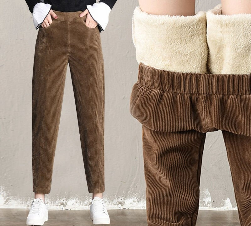 Sherpa Fleece Corduroy Pant Sherpa Fleece Corduroy Pant - Soo FluffyCLOTHING & ACCESSORIES Soo Fluffy