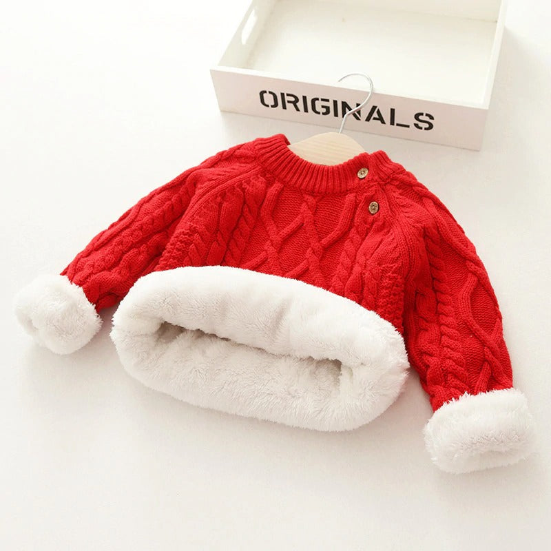 Sherpa Fleece Sweater (Toddler) Sherpa Fleece Sweater (Toddler) - Soo FluffyCLOTHING & ACCESSORIES Soo Fluffy Red / 12M