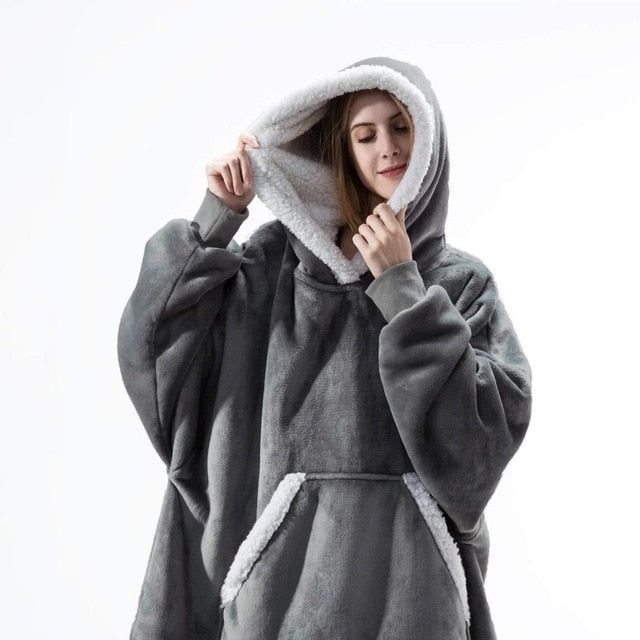 Soo Fluffy Wearable Blanket Hoodie (with Fleece Trim) Soo Fluffy Wearable Blanket Hoodie (with Fleece Trim) - Soo FluffyCLOTHING & ACCESSORIES Soo Fluffy