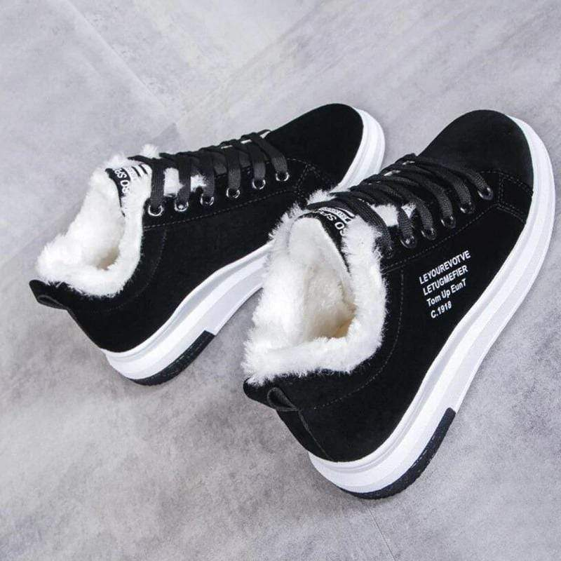 Nelly Fur Sneakers Nelly Fur Sneakers - Soo FluffySHOES Soo Fluffy Black / UK 3 / US 5 / EU 36