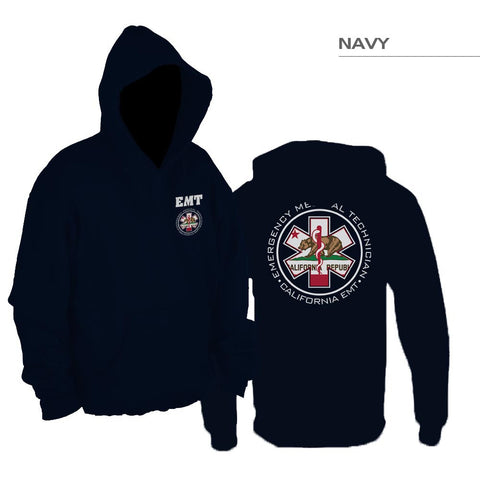 Double Sided California Flag EMT Pullover Hoodie