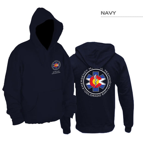 Double Sided Colorado Flag EMT Pullover Hoodie