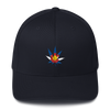 Colorado Flag Marijuana Leaf Hat Dark Navy