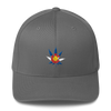 Colorado Flag Marijuana Leaf Hat Gray