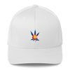 Colorado Flag Marijuana Leaf Hat White