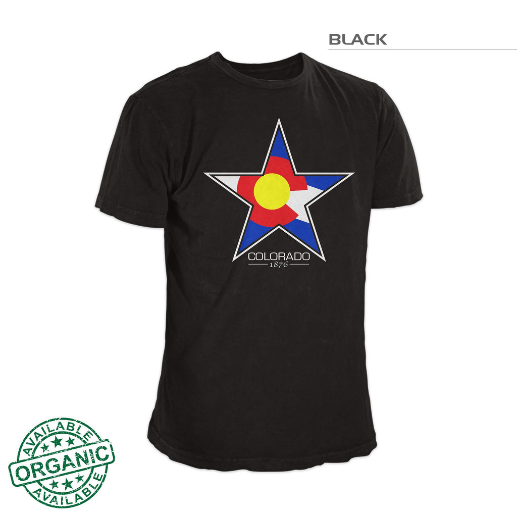 Colorado Flag Star T-Shirt – Black