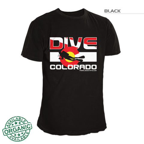 Scuba Dive Colorado Flag Shirt