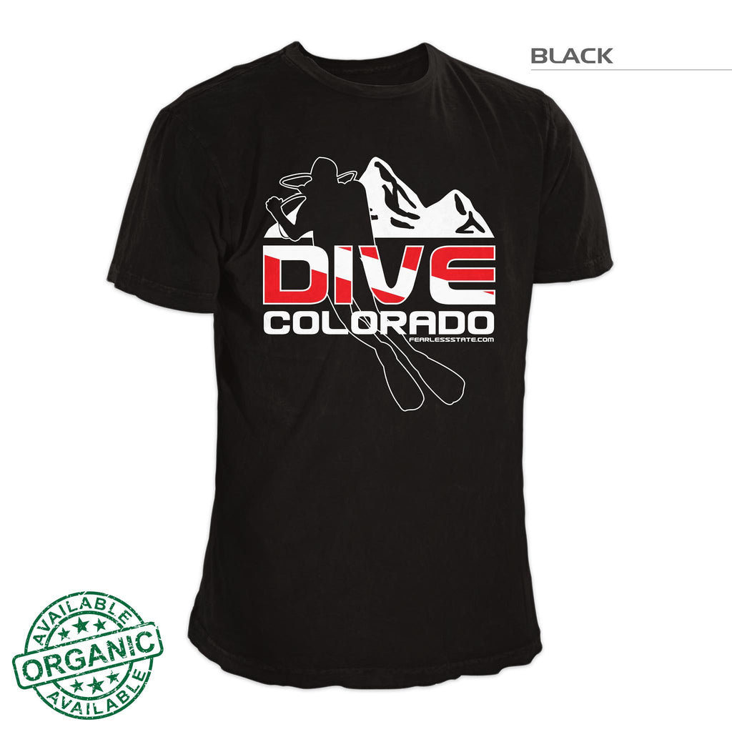 Colorado Mountain Scuba Dive T-Shirt Black