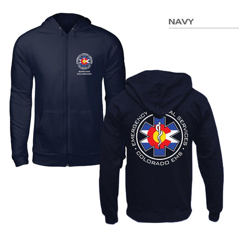 Zip-Up Colorado Flag EMS Hoodie
