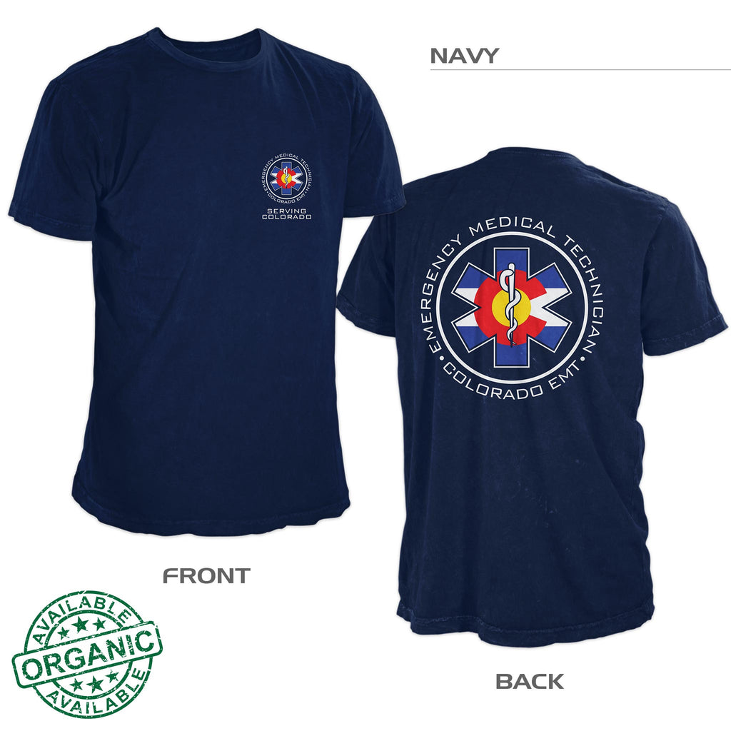 Organic Colorado EMT Shirt Navy Blue