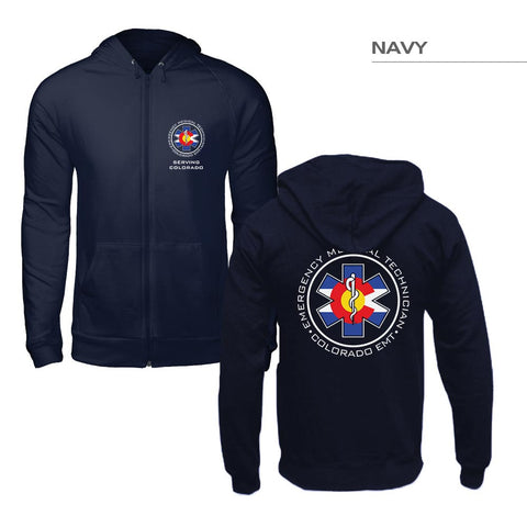 Zip-Up Colorado Flag EMT Hoodie