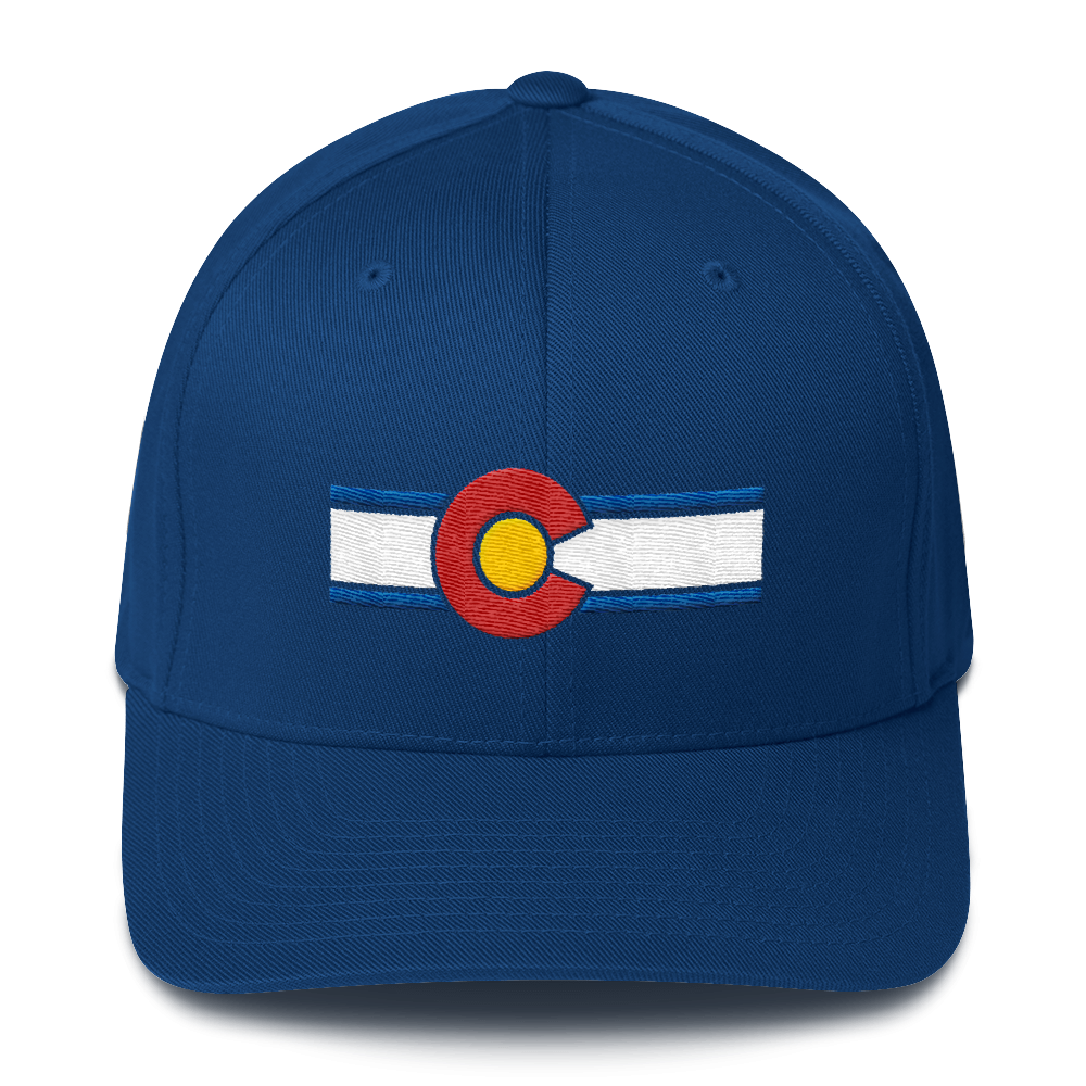 Colorado Flag Hat Royal Blue
