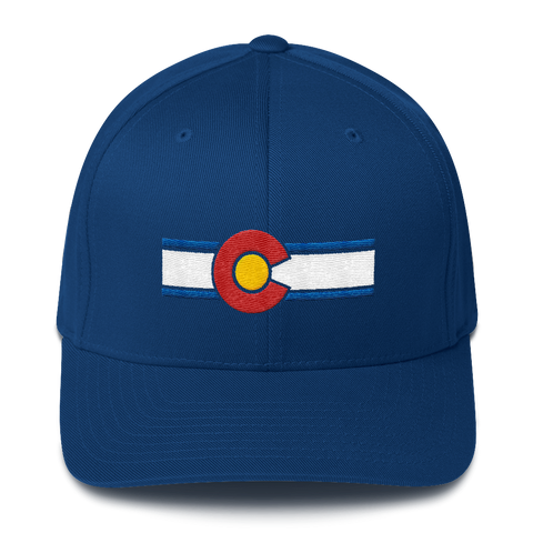 Embroidered Colorado Flag Flexfit Hat