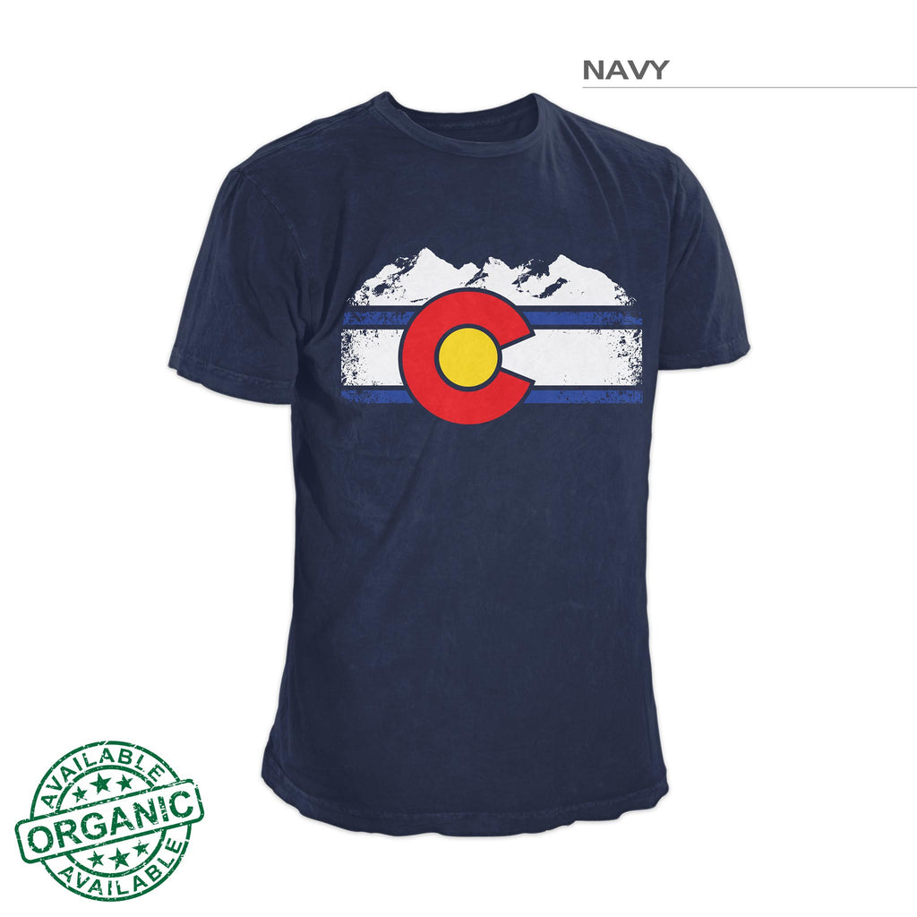 Colorado Flag Rocky Mountain Shirt – Navy Blue