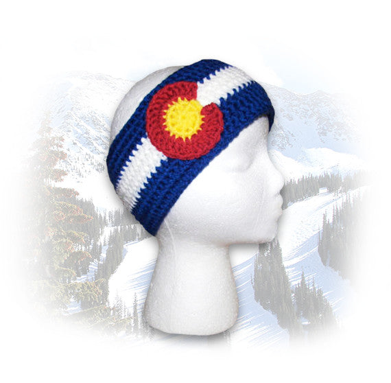 Crocheted Colorado Flag Headband
