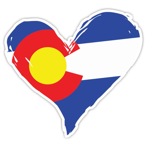 "5"" Colorado Flag Heart Decal"