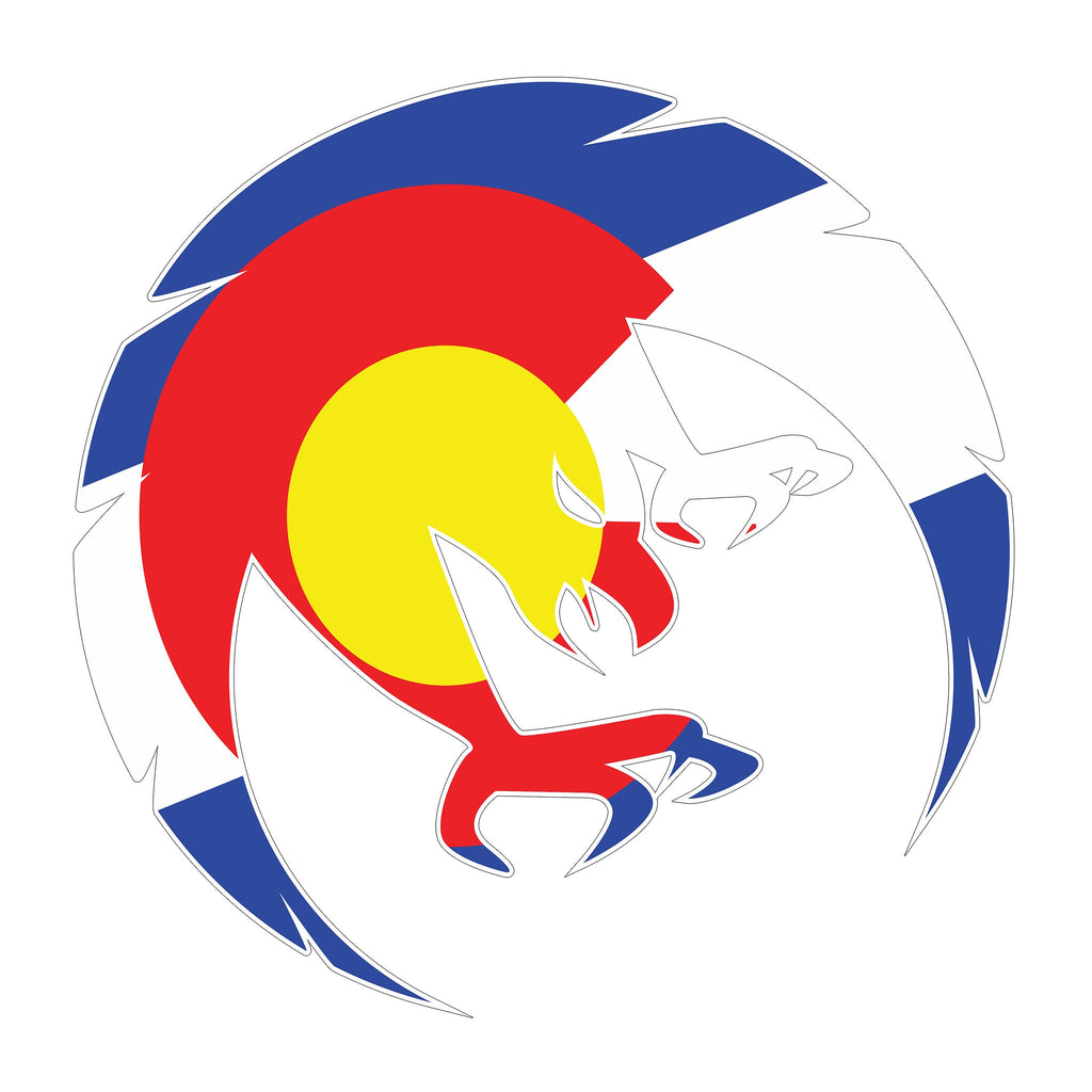 "5"" Fearless State Colorado Logo Decal"