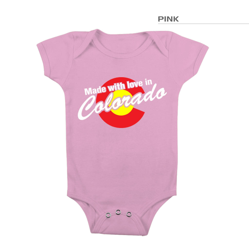 Made In Colorado Onesie – Pink