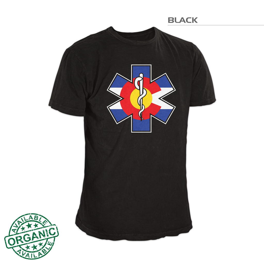 Colorado Flag Shirt – Medic – Black