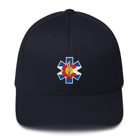 Embroidered Colorado Flag Medic Flexfit Hat