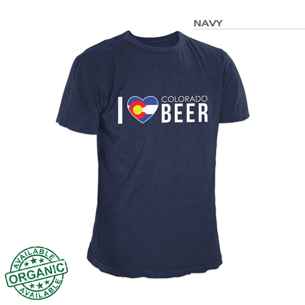 I Love Colorado Beer Shirt — Navy Blue
